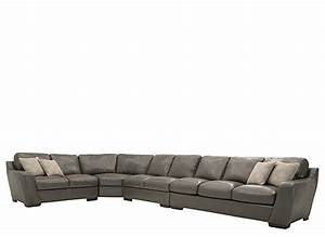 carpenter 4 pc leather sectional sofa w queen sleeper With sectional sofa w queen sleeper