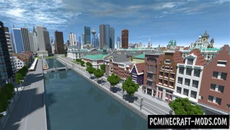world  worlds city map  minecraft   pc java mods