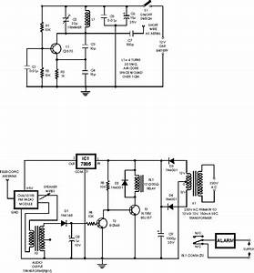 Schematic  U0026 Wiring Diagram  Car Wireless Alarm Circuit Diagram