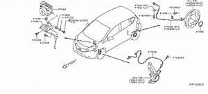Nissan Versa Note Abs Wheel Speed Sensor Bracket  Skid
