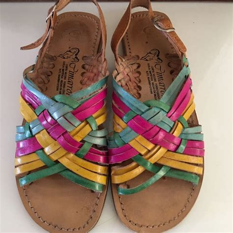 colorful sandals shoes colorful mexican sandals poshmark