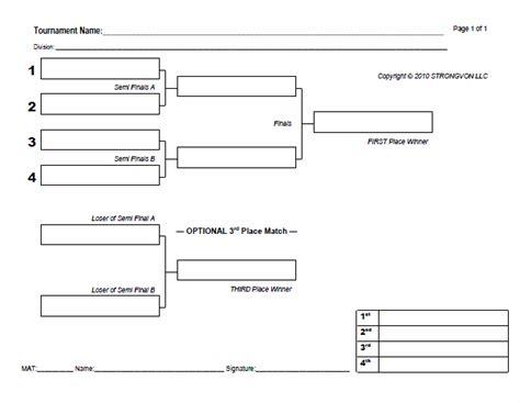 bracket challenge template tournament bracket template sop exles