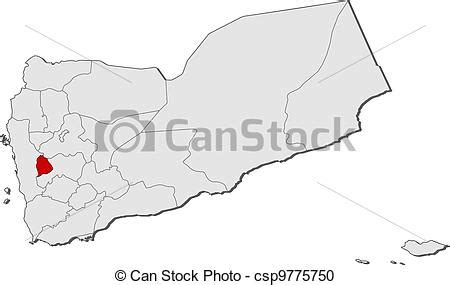 map  yemen raymah highlighted political map  yemen