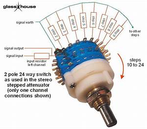 Blue 4 Pole 24 Way Switch  Nickel Plated