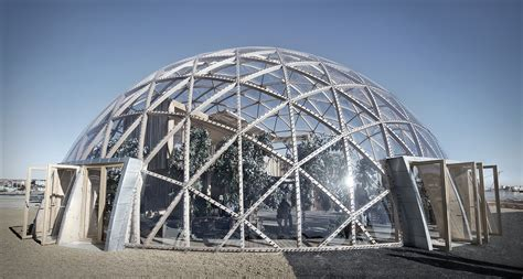 cupola structure spectacular dome of visions greenhouse pushes the