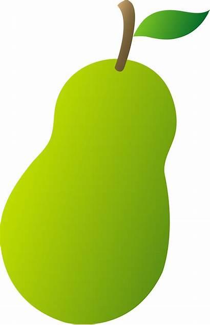 Clip Pear Clipart Fruit Cartoon Fruits Cliparts