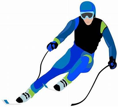 Skier Ski Skiing Clip Clipart Racer Trip