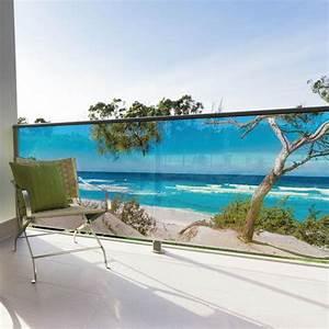 Brise Vue Design : brise vue balcon design occultation imprim e vue plage ~ Farleysfitness.com Idées de Décoration