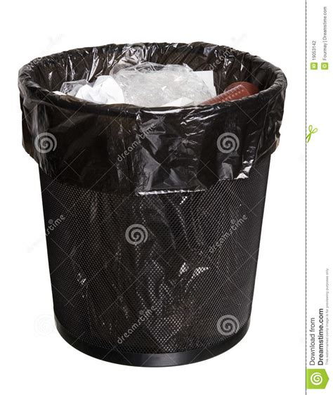office bin full  garbage stock photography image