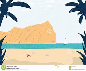 Summer Beach Inspired Scene. Vector Illustration Stock ...