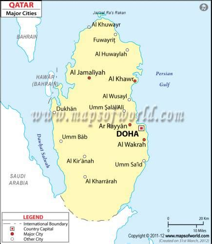 qatar map holidaymapqcom