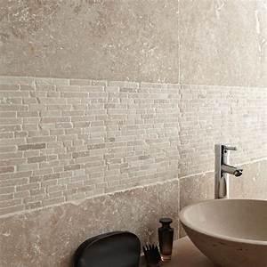 travertin sol et mur beige effet pierre travertin l406 x With panneau de couleur peinture murale 6 couleur credence cuisine imitation pierre credences cuisine