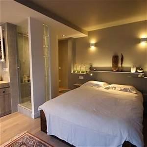 suite parentale avec salle de bain ouverte chambre With salle de bain design avec décoration d une chambre à coucher adulte
