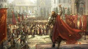 Sphira, Linekong, Fantasy, Army, Medieval, Knights, Armor, Flags, Cities, Architecture, People