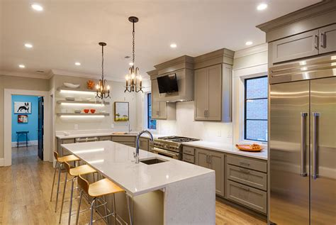 The Lighting In This Kitchen Features Led Recessed