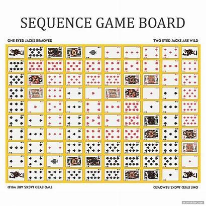 Sequence Board Printable Layout Simple Printabler Juegos