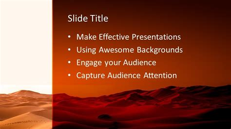 desert powerpoint template  powerpoint templates