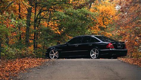 Mercedes E Class Backgrounds by Amg Mercedes Black W211 E Class Vossen Wallpaper