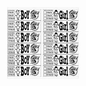 Boy Girl Label Sheet