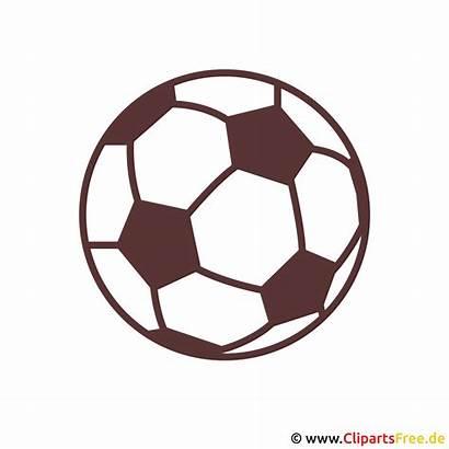 Ball Soccer Clipart Fussball Kostenlos Sports Colouring