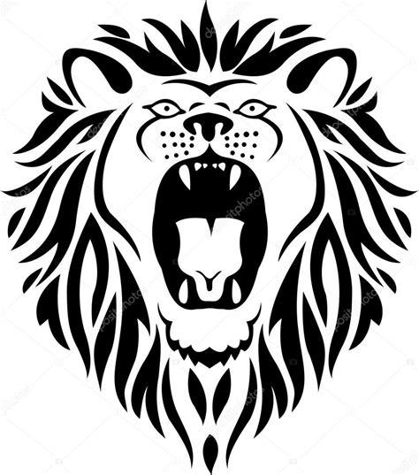 lion tribal tattoo stock vector  idesign