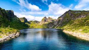 Download, 1920x1080, Fjord, Lake, Scenery, Clouds, Mountains