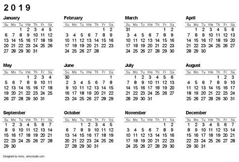 printable calendars planners