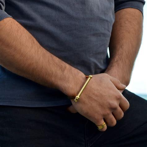 gold xl screw cuff bracelet opes robur wolf badger