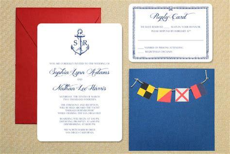 diy nautical wedding invitation with bunting the budget savvy