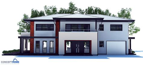contemporary one house plans large modern house plan with four bedrooms house plan