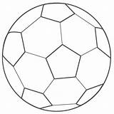 Soccer Coloring Ball Printable sketch template