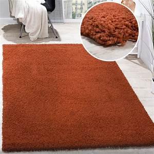 Teppich Einfarbig Günstig : shaggy hochflor terrakotta hochflor teppiche ~ Indierocktalk.com Haus und Dekorationen