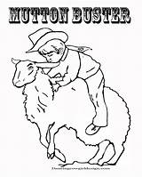 Coloring Mutton Rodeo Pages Cowboy Sheet Clown Bustin Face Patterns Cowgirl Wood Faces Horse Carving Drawing Christmas Bull Western Wrapping sketch template