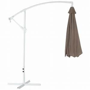 Parasol Déporté Aluminium : parasol d port octogonal alice en polyester et aluminium taupe ~ Teatrodelosmanantiales.com Idées de Décoration