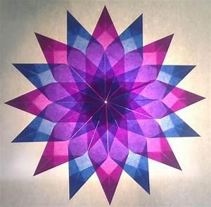 Sterne Weihnachten Basteln : blau lila stern 16 zacken sterne aus transparentpapier basteln ~ Eleganceandgraceweddings.com Haus und Dekorationen