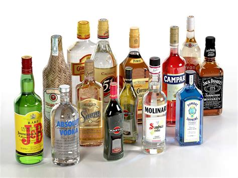 alcoholic drinks collection of alcoholic drinks