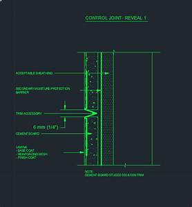 Stucco detail /11 CONTROL JOINT- REVEAL 1 - CAD Files, DWG