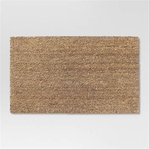 target welcome mat beige solid doormat 1 6 quot x2 6 quot room essentials target