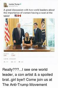 Ivanka Trump Trump a Great Discussion With Two World ...