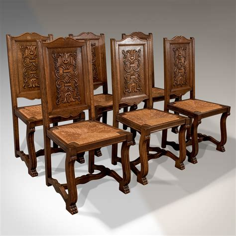 antique oak set   french kitchen dining chairs quality