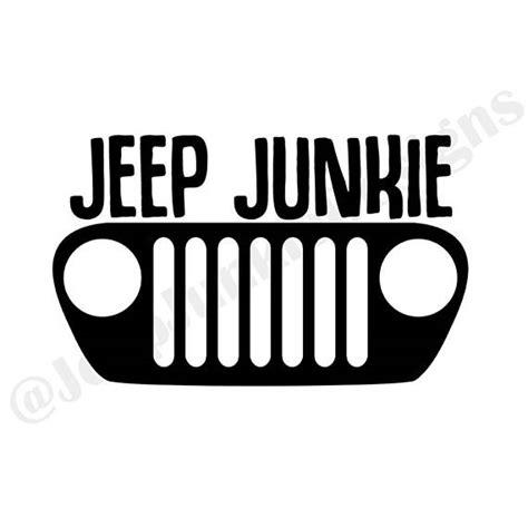 jeep grill decal jeep junkie tj grill vinyl decal jeep decal jeep grill