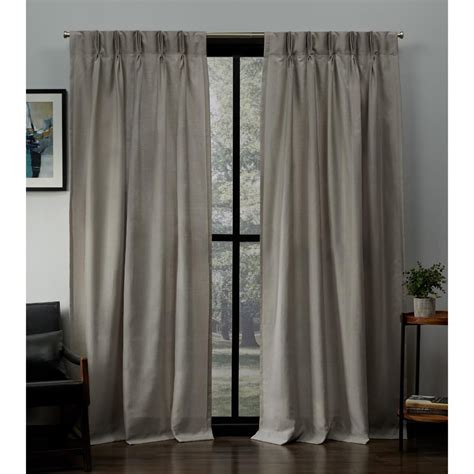 Pinch Pleated Drapery Panels by Exclusive Home Curtains Loha Beige Linen Pinch Pleat Top
