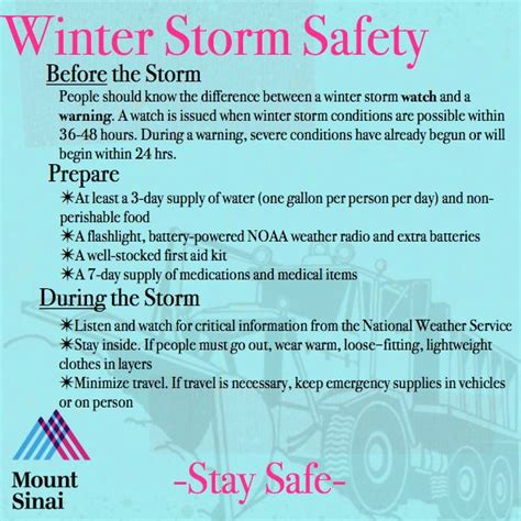 Check out our Winter Storm Safety Tips and keep your