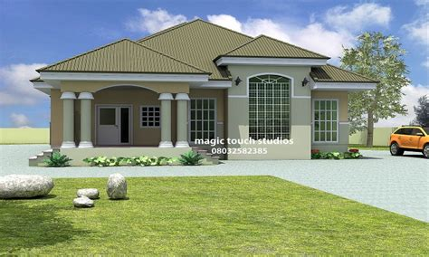 three home plans 5 bedroom bungalow house plan in nigeria 5 bedroom