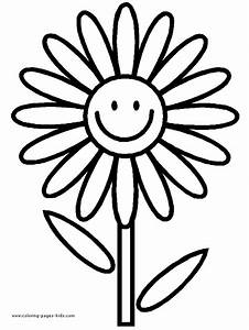 Kids Flower Coloring Pages - Flower Coloring Page