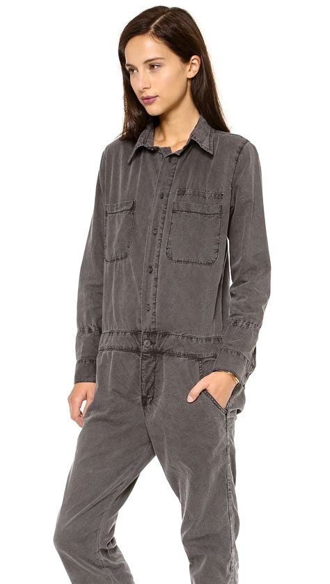 mechanic jumpsuit bliss and mischief mechanic jumpsuit in gray lyst