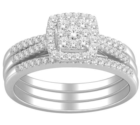 1 carat trio wedding ring for certified in white gold jeenjewels