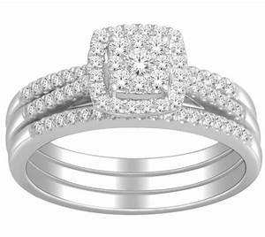 1 carat trio wedding ring set for her gia certified round for Wedding ring sets for her