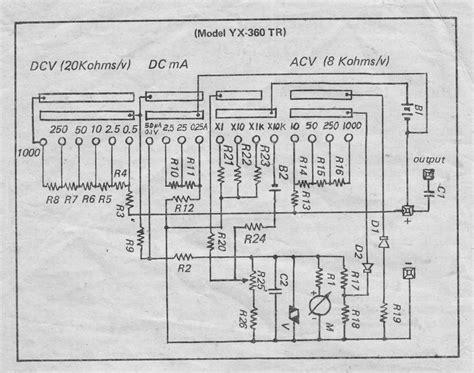 maintenance of sanwa yx 360tr plus schematic diagram