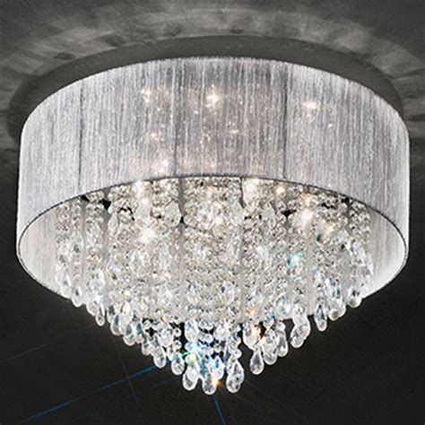 franklite royale 4 light chrome flush ceiling
